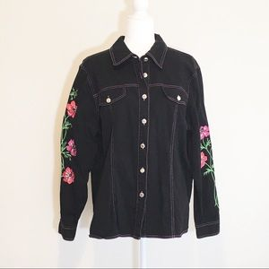 Bob Mackie Wearable Art Floral Embroidered Jacket